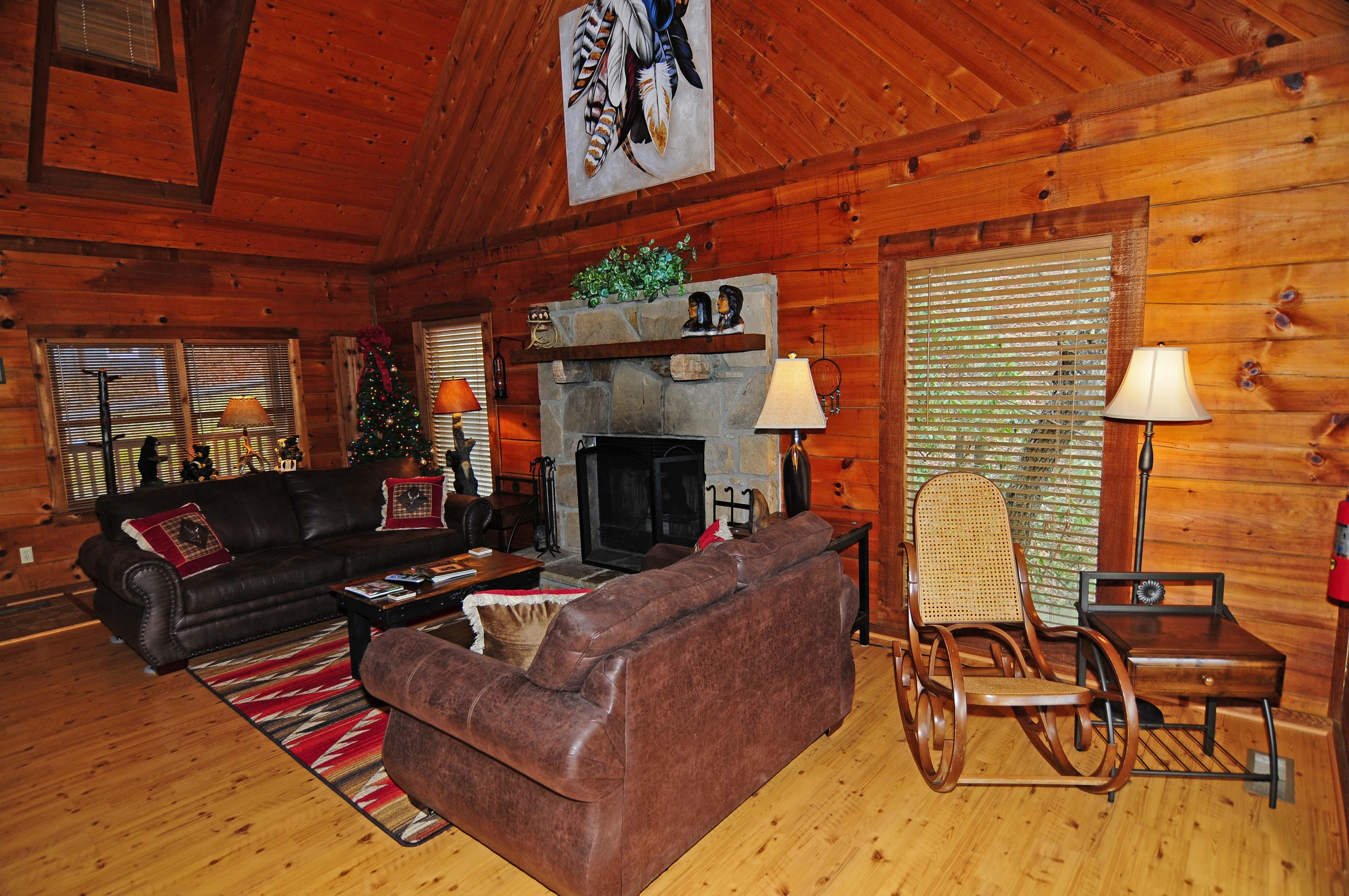 nights cherokee sevierville online pigeon gatlinburg rental bedroom cabins forge cabin