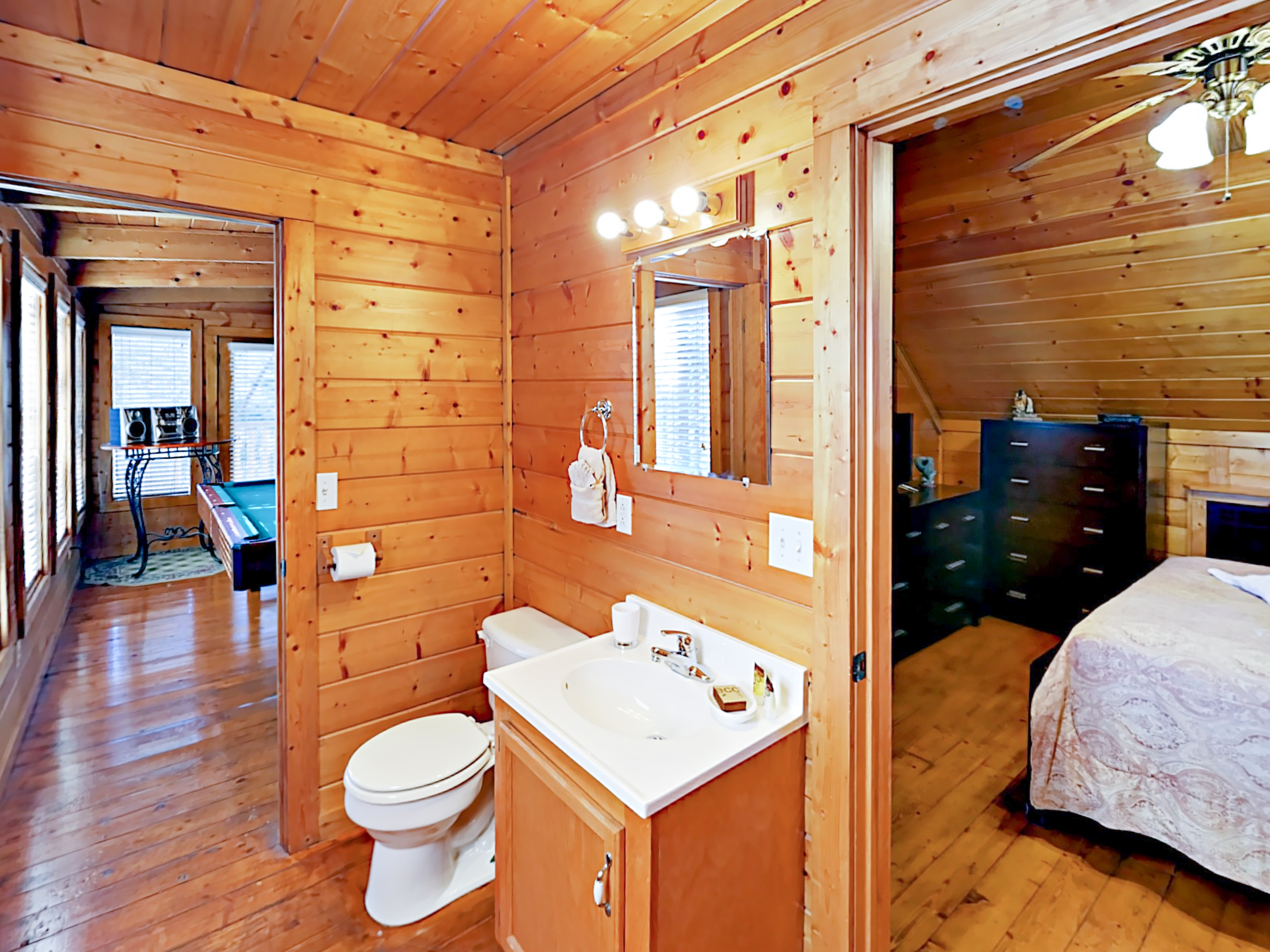 cabins dreams cabin luxury tennessee room with under theater rental in chalet pigeon of a forge