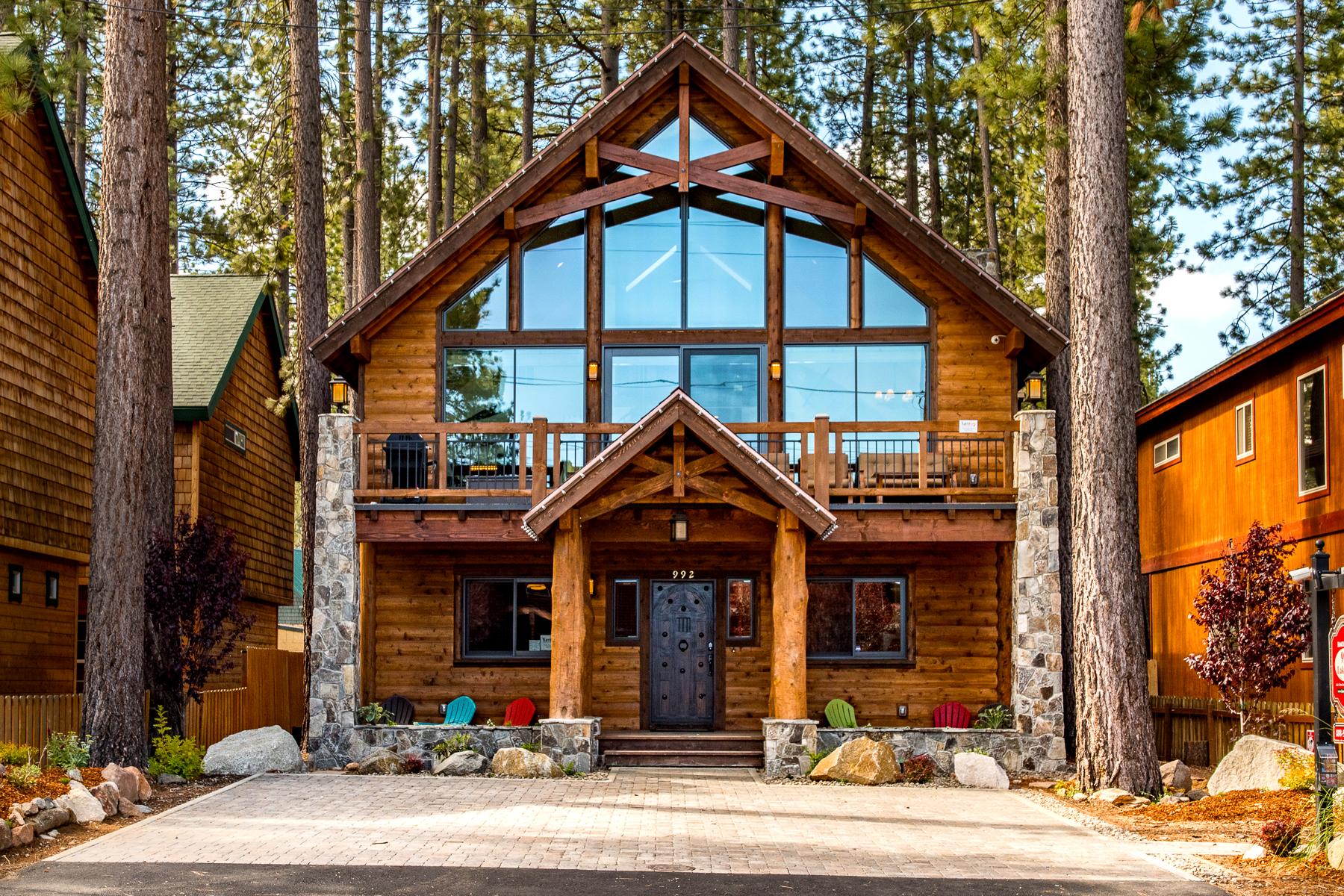 5br 4ba lake tahoe luxury vacation rental ra88271 for Rental cabins in south lake tahoe