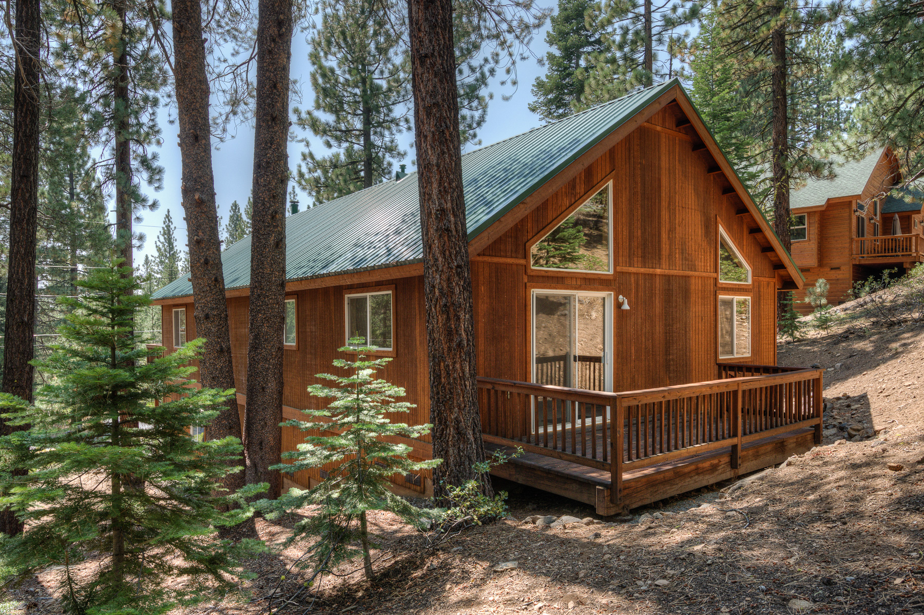 donner among ski tahoe redawning property truckee cabin charming the rental vacation cabins in pines