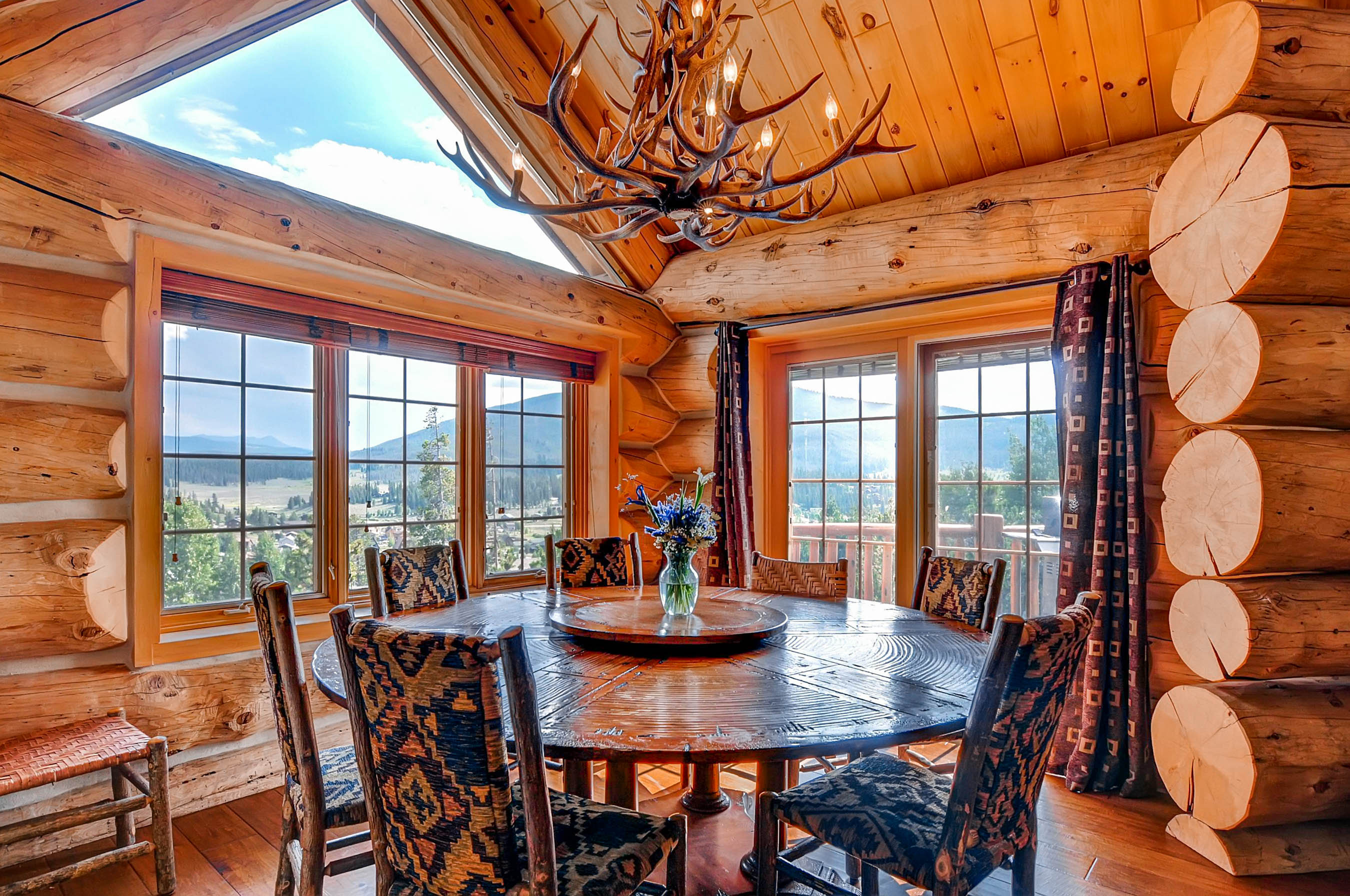 Log Cabin Dining Room Furniture Go To Interior