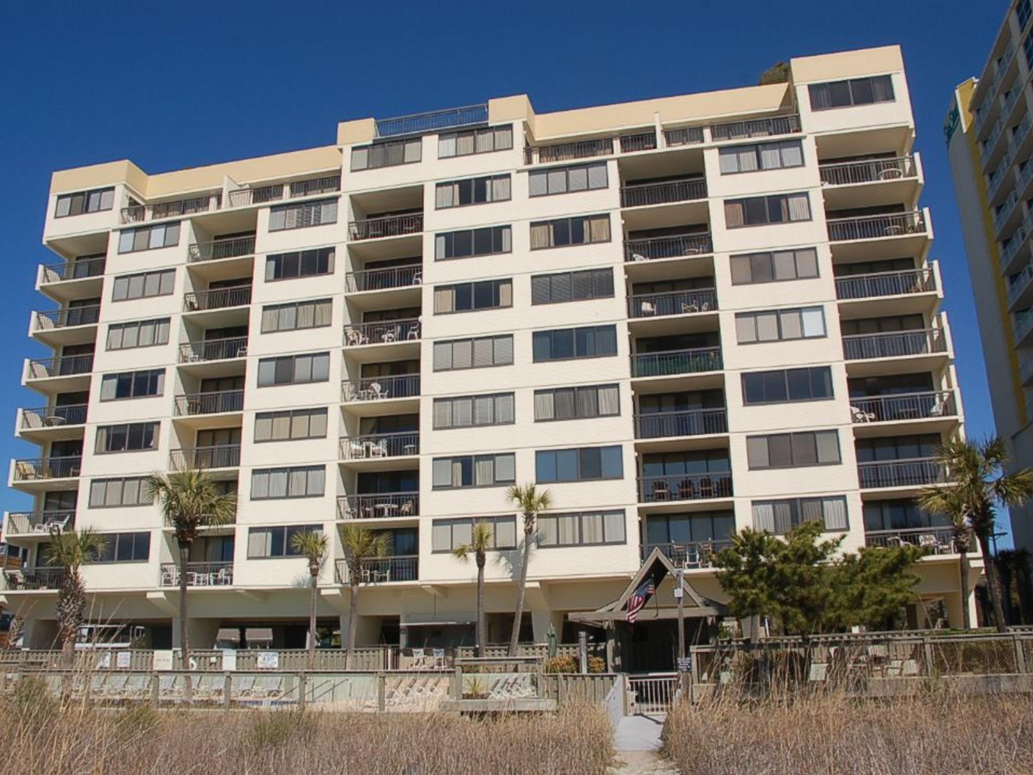 Building High Rise Hotel City Balcony