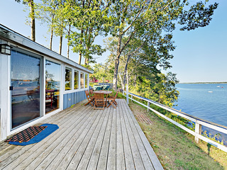 Waterfront Cottage w/ Deck & Fireplace