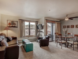 Studio overlooking the river in downtown Breckenridge
