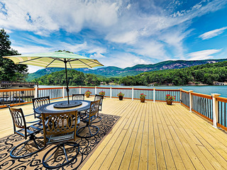 Lakefront Cabin: Deck w/ Blue Ridge Mountain View