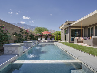 Mid-Century Style & Waterfall Pool - image