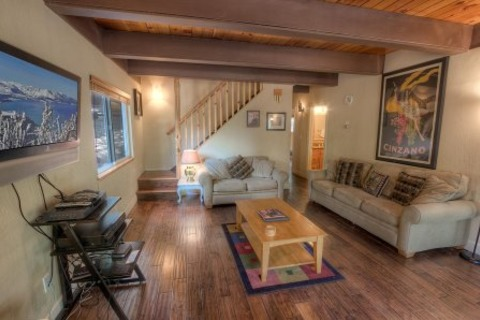 Upscale A-frame Cabin with Lots of Space and Hot Tub Vacation Rental in South Lake Tahoe, CA - RedAwning