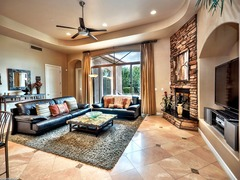 Well-Appointed Finishes Inside with Showpiece Backyard