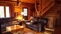 Walhalla Log Cabin tucked back in the woods